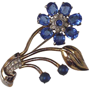 Vintage Corn Flower Blue Floral Brooch A 1950s Beauty