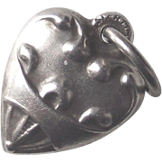 Vintage TINY Sterling Heart Puffy Heart Charm Perfect for your Fashion Doll