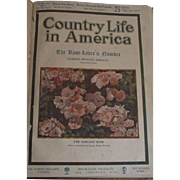 Vintage Country Life in America 1911 Hard Board Marbleized Paper Cover
