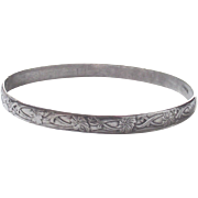 Vintage Sterling Bangle Mexican with a Wonderful Pattern