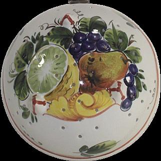 Vintage Italian Faience Colander Bowl