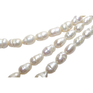 "Vintage Baroque Freshwater Potato Pearl Necklace 18"" Long"