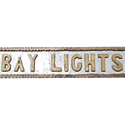 "Vintage Chip Carved Wooden Sign Coast of Maine  ""Bay Lights"""