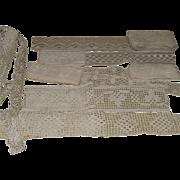 Vintage Lace Yardage Seven  Groups  Three are Handmade