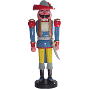 "Vintage 21"" Tall German Nutcracker the Musketeer in Original Box"