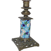 Antique Longwy Single Candlestick made in France circa 1900