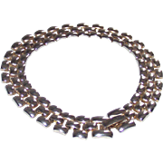 Vintage Silver Panther Link Bracelet