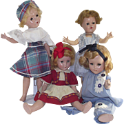 Vintage Four Piece 1950s Composition Doll Lot Repair or Use for Parts