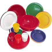 Mid Century Red Plastic Picnic Party Ball