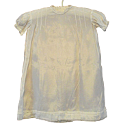 Vintage Baby Sunday Best Dress 1920s White Satin