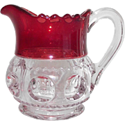 EAPG Kings Crown Flashed Ruby Individual Creamer