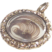 Victorian Plated Hair Locket  in Prince of Wales Style  Circa 1860