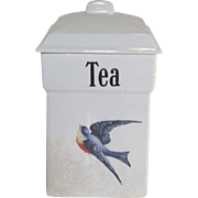Vintage Blue Bird Tea Canister 1920's