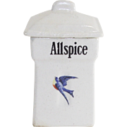 Vintage Blue Bird Allspice Canister 1920's