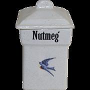 Vintage Blue Bird Nutmeg Canister 1920's