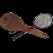 Vintage circa 1923 Dayton Co Tennis Racquet in Original Canvas Case