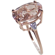 Morganite Ring 5.5 Caret Stone set in 10 Kt Rose Gold