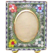 Vintage Micro Mosaic Picture Frame Perfect Baby Picture Size Tiny