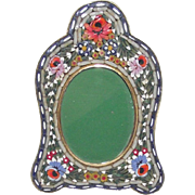 Vintage Micro Mosaic Picture Frame Small Oval with Arched Top