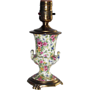 "Vintage Chintz Table Lamp Looks Like "" Summertime"""