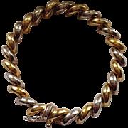 Vintage Italian Sterling and Vermeil San Marco Bracelet Seven Inch