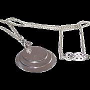 Vintage Sterling Triple Tablets Pendant Necklace