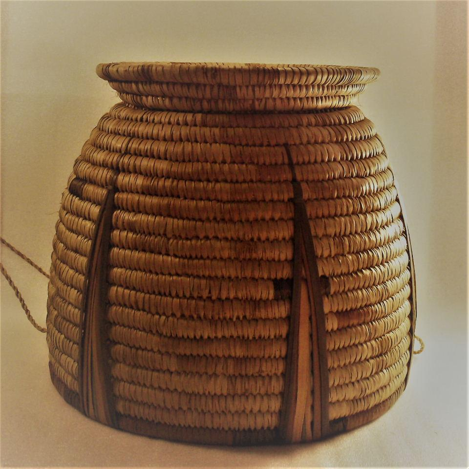 African Baskets With Lids: Hand Woven African Basket With Lid From Botswana Africa