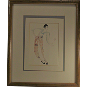 Pierrot Water Color Giclée