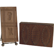 German Springerle Butter Folk art Cookie Stamp Press Molds Two Piece