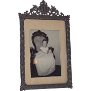 Victorian Table Top Picture Frame with Crown at Top