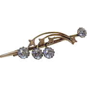 Vintage Haleys Comet With Shooting Srars Brooch in Rolled Gold