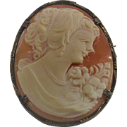 Vintage Cameo Set in 800 Silver Brooch and Pendant