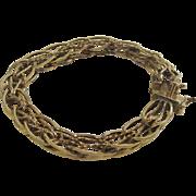 Vintage Gold Fill Charm Bracelet 1/20 12 kt Gold Fill
