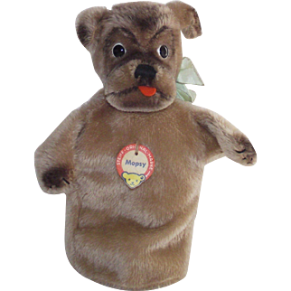 "Vintage Steiff ""Mopsy Dog""  Mohair Plush Hand Glove Puppet"