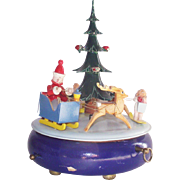 Vintage Steinbach Music Box Christmas Tree Volkskunst Germany