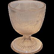 Victorian Boston and Sandwich Co Flint Glass Bellflower Large Open Sugar or Butter Milk 1840s
