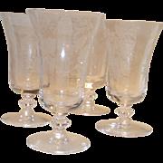 Vintage Tiffin Fuchsia Juice Goblets