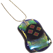 Large Dichroic Glass Pendant Great Colors