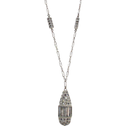 Art Deco Waterfall Style Sterling BULLET Shape Pendant