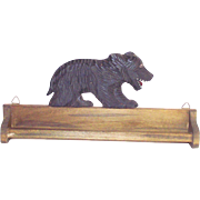 Black Forest Style Bear Tie – Towel Rack