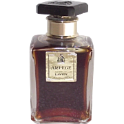 Lanvin Arpege Square Bottle with Black circa 1950s