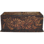Pyrography Letter Pencil Holder Daisy Pattern