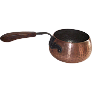 Swiss Fondue Pot Hand Hammered