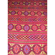 Vintage Floor Rug Hand Loom Woven Central American Room Size