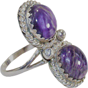 Purple Turquoise Sterling Ring