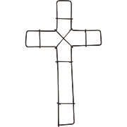 Victorian Wire Christian Cross