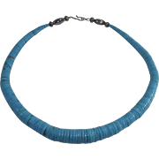 Turquoise Heishi Bead Necklace for a Child