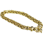 Byzantine Bracelet with Over Sized O Ring Clasp Gold over Sterling