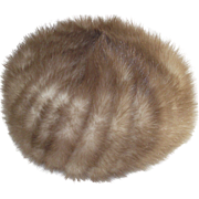 Vintage Blonde Mink Pill Box Hat 1960's