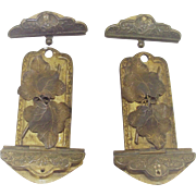 Victorian Decorative Album Clasps Pair of Two